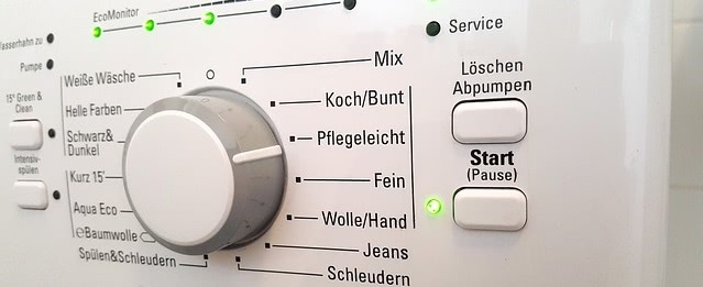 Viele Programme an der Waschmaschine
