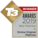 Emma mattress UK wins T3 bed mattress 2019