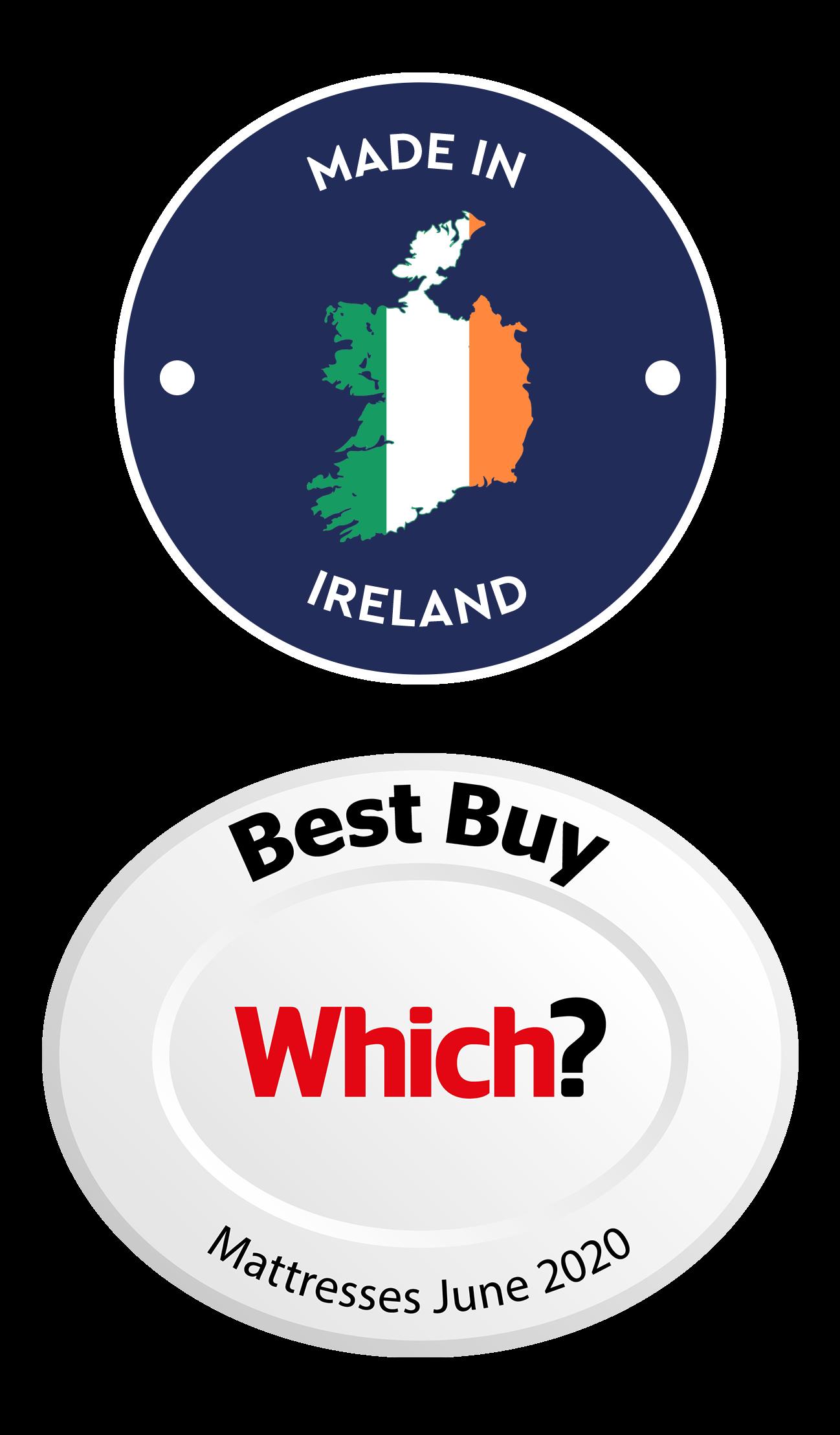irish logo white