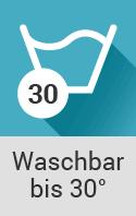 Wäschezeichen bis 30 Grad waschbar
